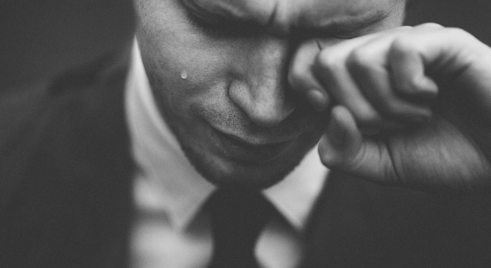 a man cry